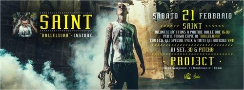 "Saint, sabato 21 febbraio presenta il nuovo mixtape ""Hallelujah"" a Roma"