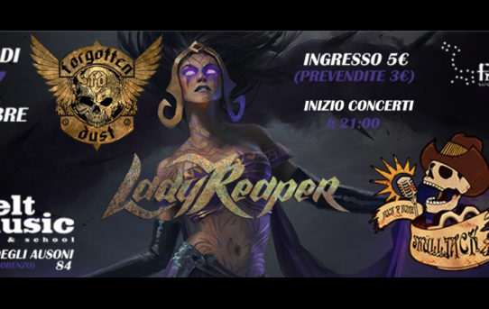 Metal-Giubileo al Felt Music di Roma con Forgotten Dust, Lady Reaper e Sküll Jack