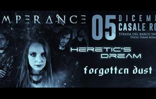 Temperance, Heretic's Dream e Forgotten Dust live al Casale Rock