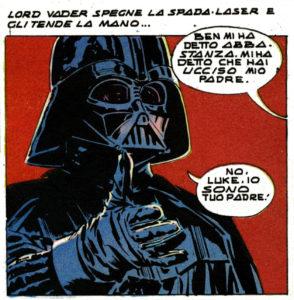 La mitica scena -Io sono tuo padre!- versione fumetto
