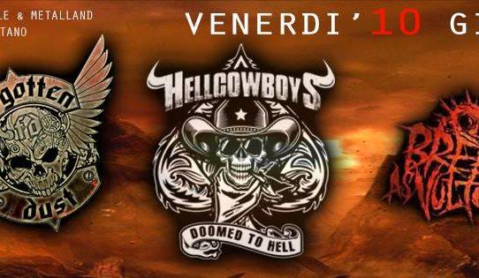 Serata infuocata al Dissesto con Hellcowboys, Forgotten Dust e Breed As Vultures