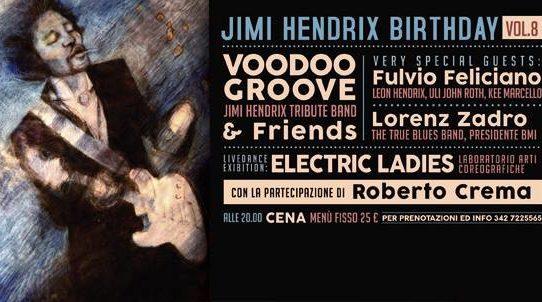 """Venerdì 25 novembre """"The Jimi Hendrix Birthday 8th Edition"""""""