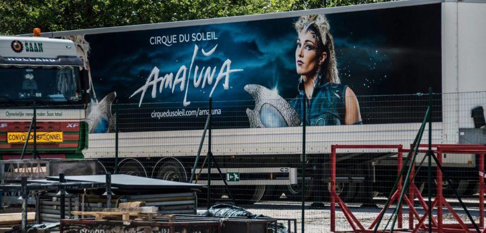 Innalzato il Grand Chapiteau del Cirque du Soleil a Roma, uno spettacolo prima dello spettacolo