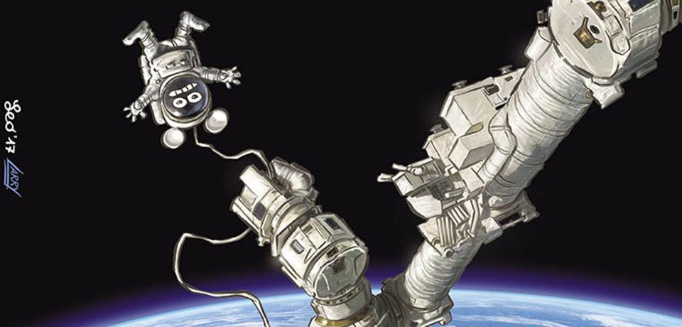Rat-Man vola nello spazio