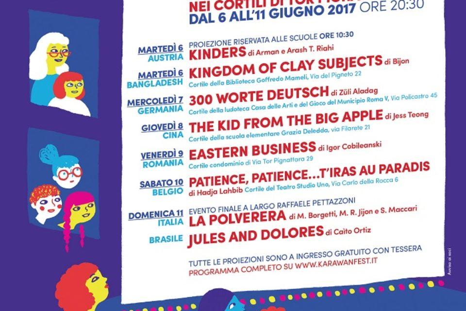 Karawan Fest, 6 – 11 giugno, torna il cinema nei cortili di Tor Pignattara e Pigneto, convivenza con le commedie