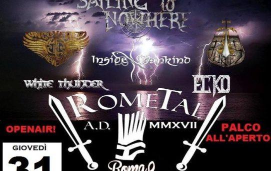 Serata d'apertura con i Sailing To Nowhere come headliner, per il RoMetal edizione 2017