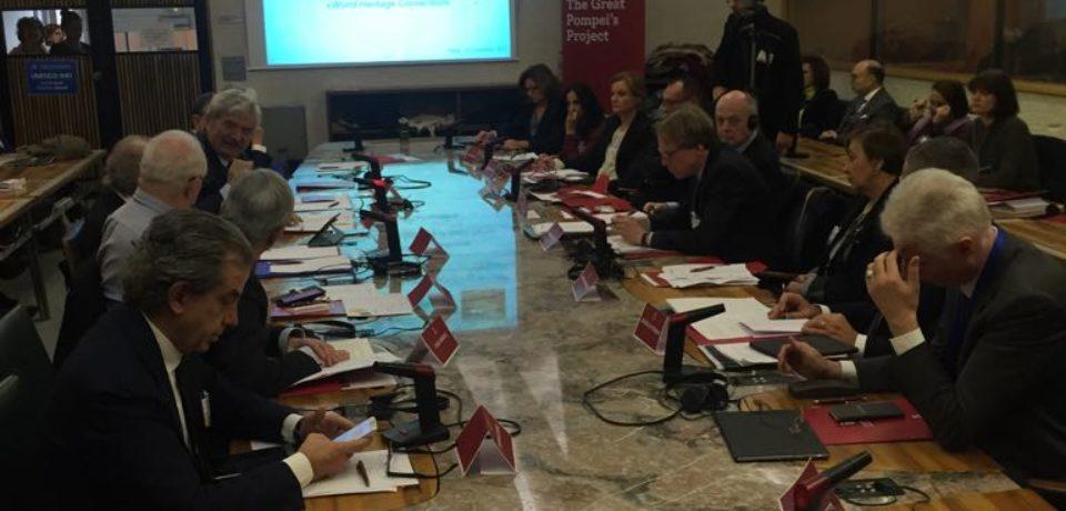 Pompei e le politiche culturali per il patrimonio, tavola rotonda all'Unesco di Parigi