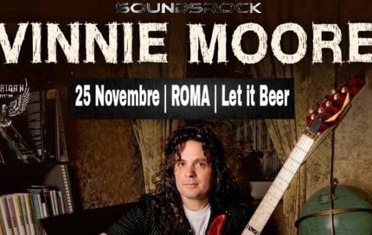 Vinnie Moore il leggendario Guitar Hero a Roma il 25 Novembre