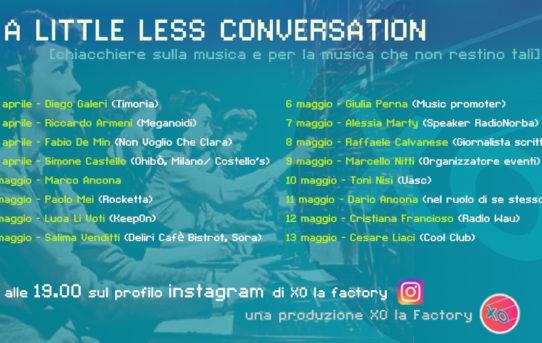 """""""A little less conversation""""  chiacchiere sulla musica e per la musica che non restino tali"""
